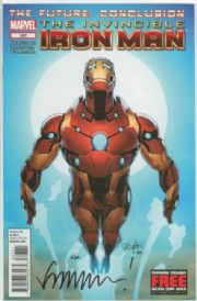 Invincible Iron Man #527 Dynamic Forces Signed Matt Fraction DF COA #2 Ltd 100 Marvel comic book